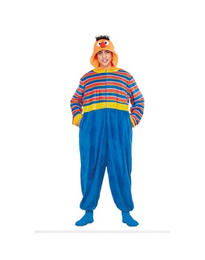 Ernie from Sesame Street Onesie Costume for Adults