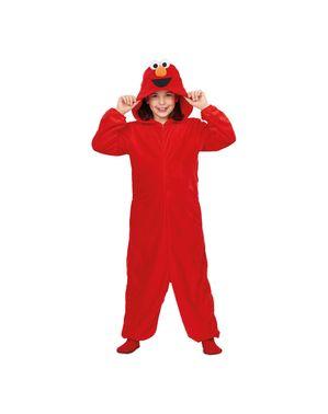 Elmo uit sesamstraat Basis Onesie kostuum voor kinderen