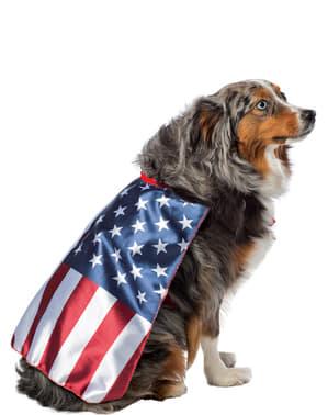 Disfraz de bandera de Estados Unidos para perro