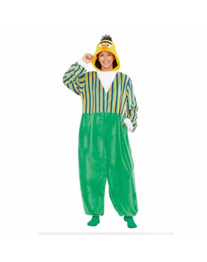 Bert from Sesame Street Basic Onesie Costume for Adults