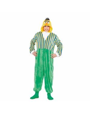 Bert uit sesamstraat Basis Onesie kostuum voor volwassenen
