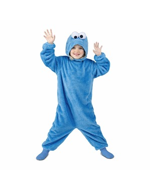 Costum Cookie Monster Strada Sesame basic pentru copii