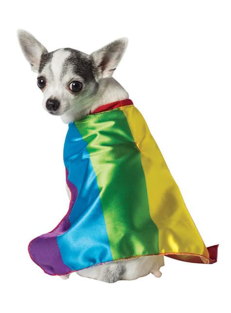 Disfraz de bandera orgullo gay para perro