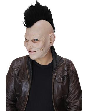 Punkmaske med paryk