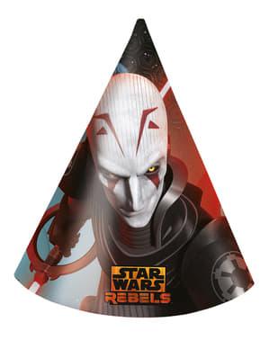 סט 6 מלחמת הכוכבים המורדים כובעים המפלגה