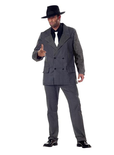 Disfraz de gángster peleón para hombre