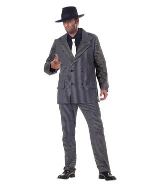 Gevaarlijke gangster Kostuum voor mannen