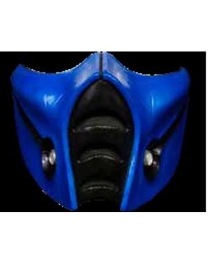 Sub-Zero Mortal Kombat Halbmaske aus Latex