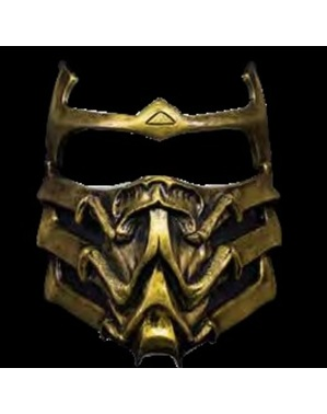 Scorpion Mortal Kombat Maske aus Latex