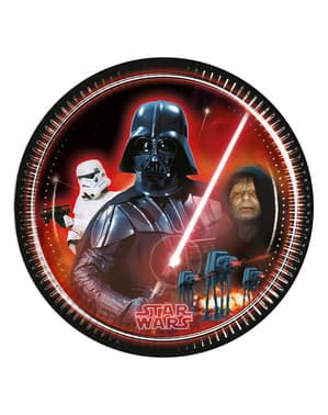 Sett med 8 Star Wars & Heroes 23cm Tallerken