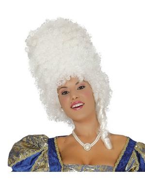 Duża biała peruka z epoki