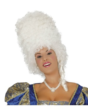 French Revolution Large White Wig