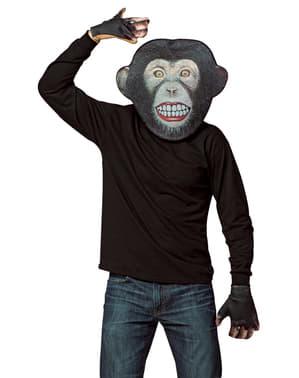 Aikuisten Apina-naamio ja käsineet