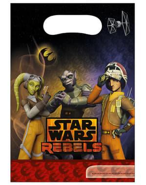 6 uitdeelzakjes Star Wars Rebels