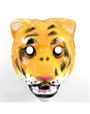 Maschera tigre di plastica per bambini