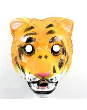 Plastik tiger maske for barn