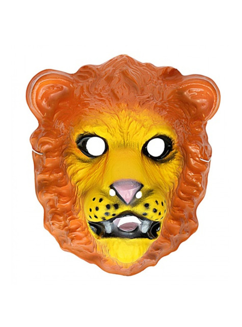 Plastic lion mask for Kids