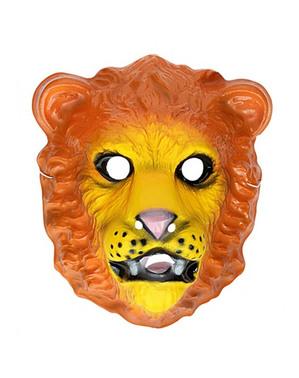 Löwe Gesichtsmaske für Kinder aus Plastik