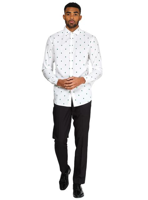 Camisa Navideña blanca Árboles de Navidad - Opposuits