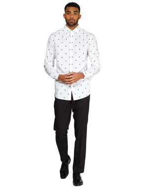 Camicia Nanalizia bianca con albero di natale - Opposuits