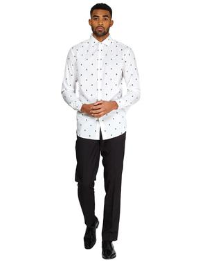Weißes Hemd mit Weihnachtsbaum - Opposuits