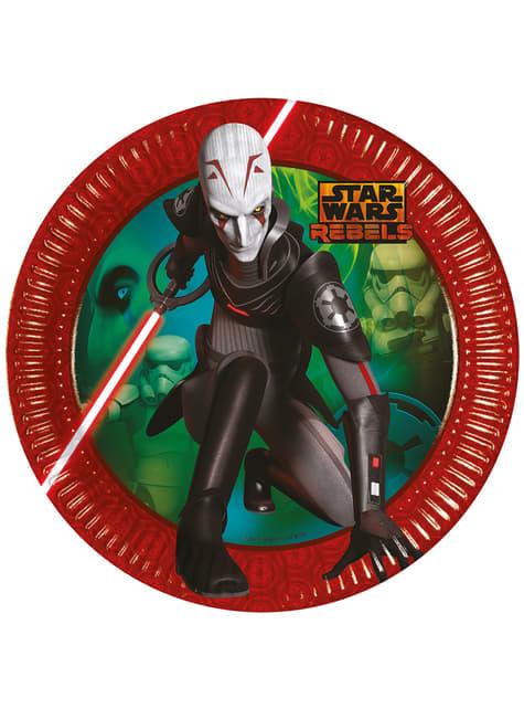 8 platos del Inquisidor (23 cm) - Star Wars Rebels