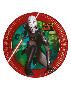 8 platos del Inquisidor (23 cm) - Star Wars Rebels
