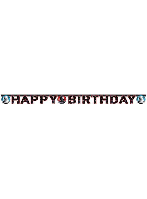 Guirlande Happy birthday Star Wars & Heroes
