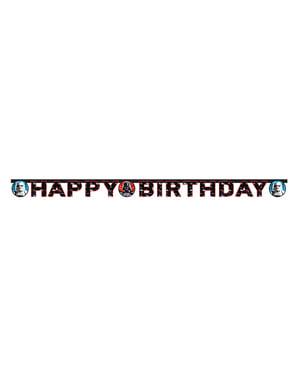 Star Wars & Heroes Happy Birthday guirlande