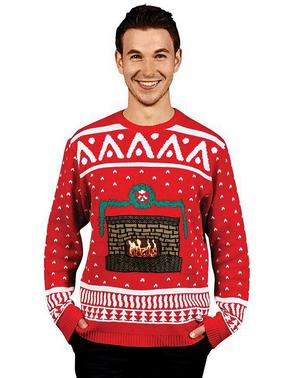 Sweter świąteczny kominek Digital Dudz
