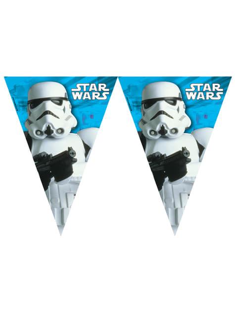 Guirnalda de banderines Stormtrooper Star Wars - Final Battle