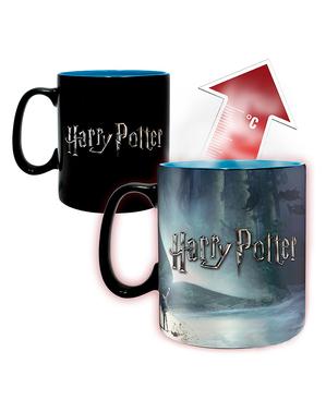 Veľký hrnček Harry Potter Patronus meniací farbu
