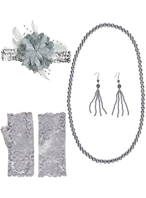 22er Jahre Charleston Accessoire Kit für Damen