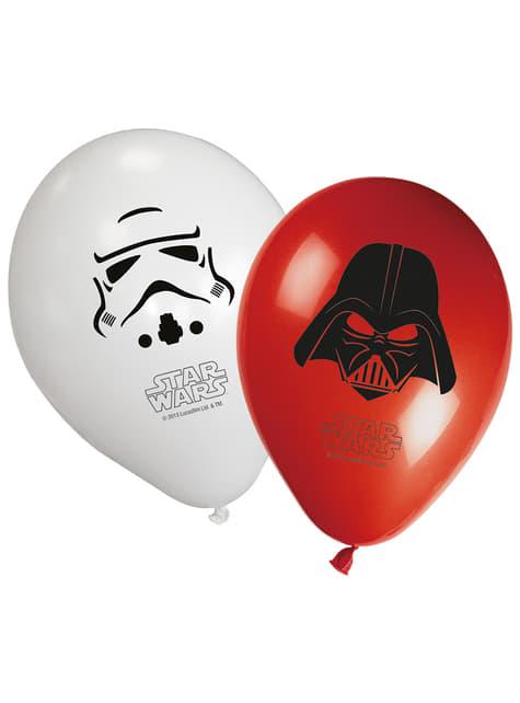 Conjunto de 8 balões Star Wars & Heroes