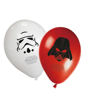 8 Star Wars & Heroes Balloons (30 cm) - Final Battle