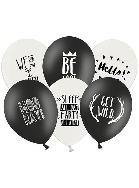 6 balões variados party (30cm)