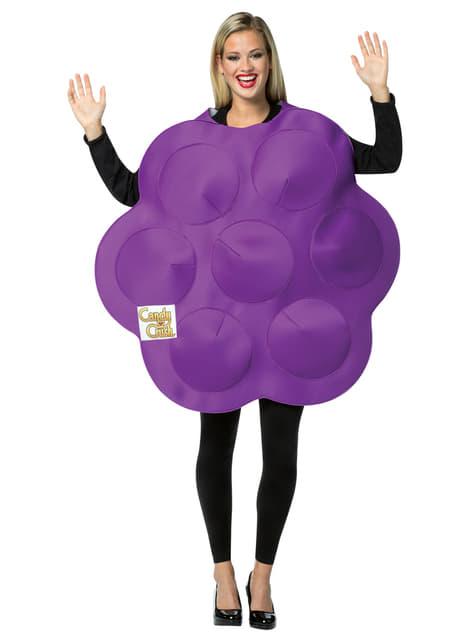 Kostium fioletowy cukierek Candy Crush dla dorosłych