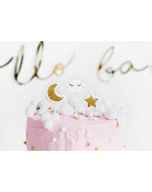 5 Wolk en Ster Kaarsen (2-3 cm) - Little Star