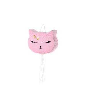Pink Cat Piñata - Meow Party