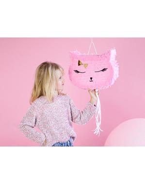 Roze kat Piñata - Meow Party