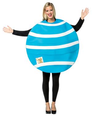 Disfraz de caramelo azul y blanco Candy Crush para adulto