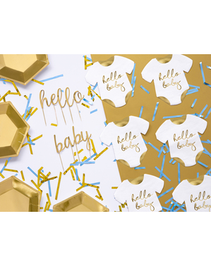 Set of 20 Hello Baby Napkins (16 x 16 cm) Baby Shower - Little Party