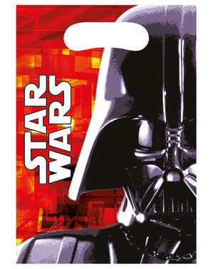 6 uitdeelzakjes Star Wars & Heroes - Final Battle