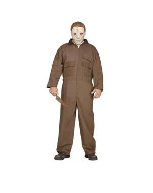 Brunt Michael Myers Kostyme til Menn