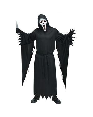 Disfraz de Ghost Face con máscara con luz para hombre
