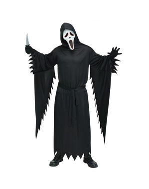 Ghost Face Costume with Light Up Mask for Men