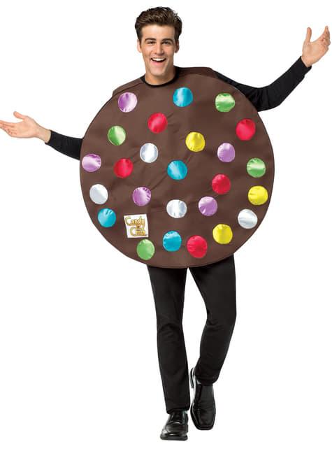 Fato de bomba de cor Candy Crush para adulto
