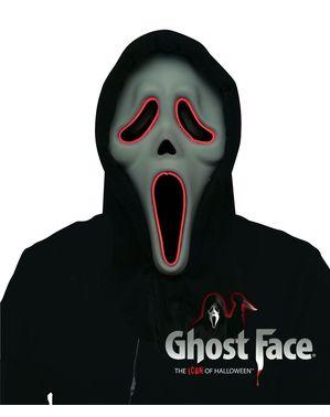 Ghostface מסכה עם אורות למבוגרים