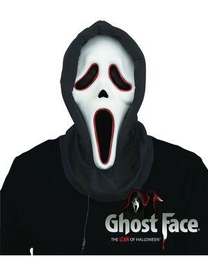 Ghost Face Maske mit Licht für Erwachsene