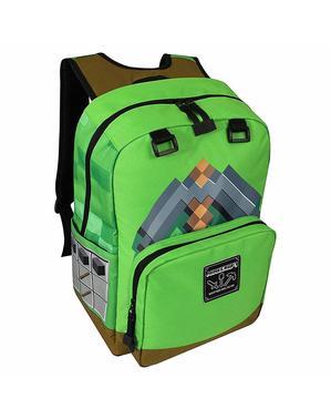 Mochila de Minecraft Picareta verde
